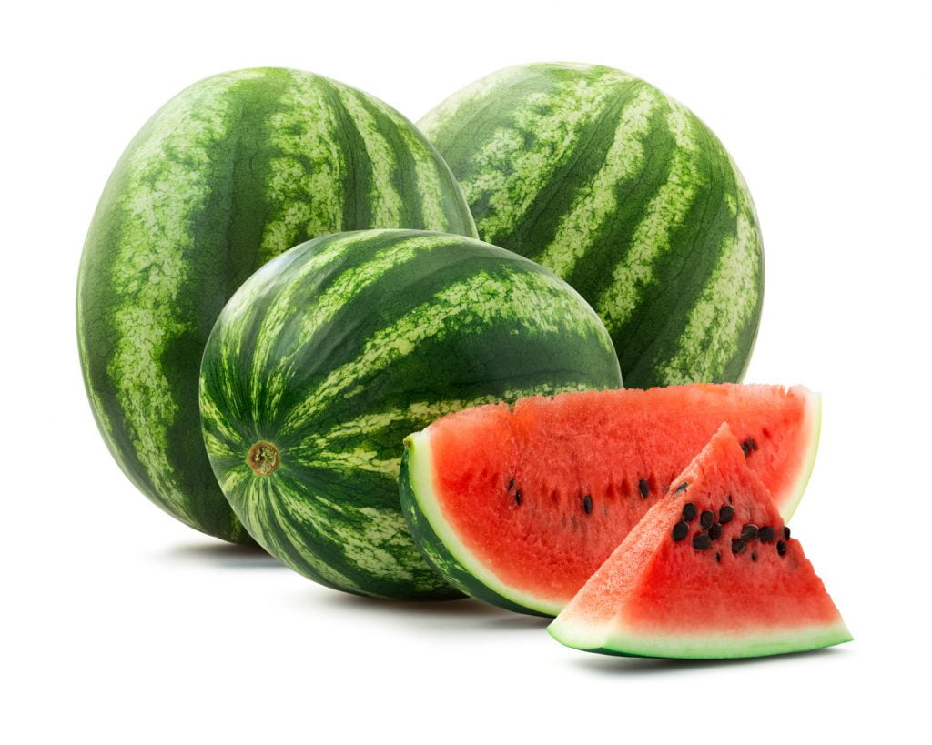 A juicy and large watermelon
