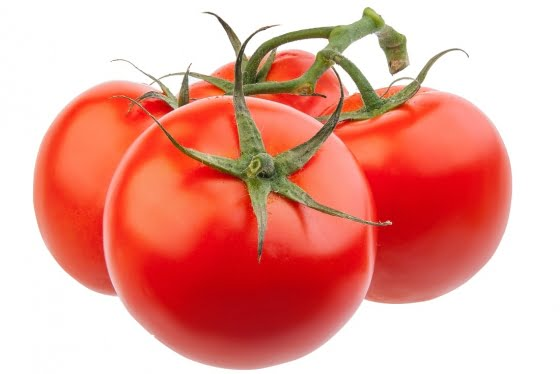 Red, juicy, natural and healthy tomatoes